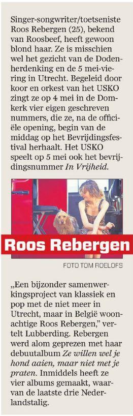 Roos Rebergen 4 mei